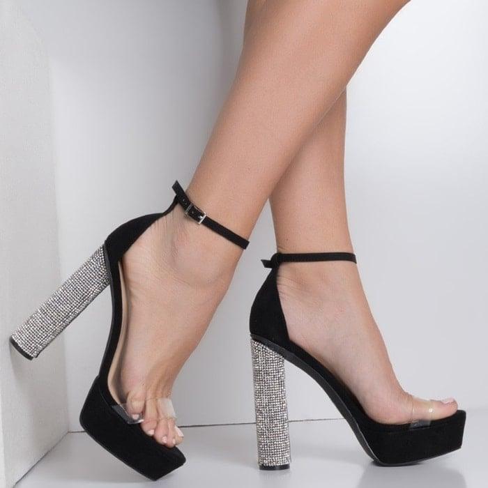 'A Star Is Born' Glitter Heel Platform Sandals