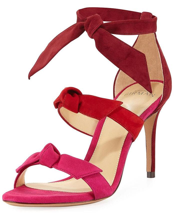 Alexandre Birman 'Lolita' Triple-Bow Suede Sandals