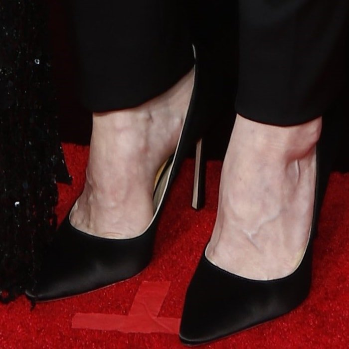 Alexis Bledel wearing Jimmy Choo's classic 'Romy' pointy-toe pumps