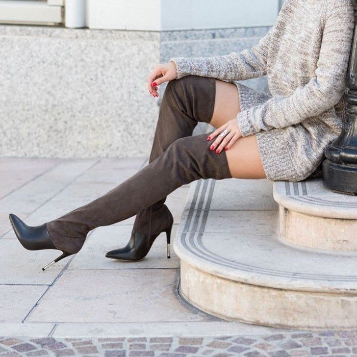 Every part of the Amalie thigh-high boot is super chic