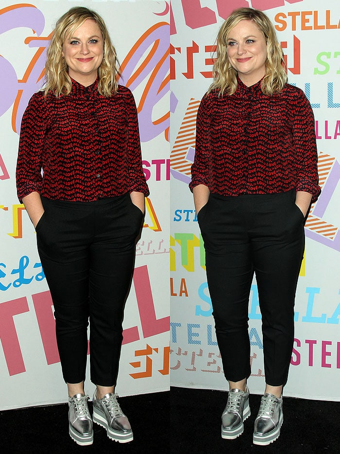 Amy Poehler at theStella McCartney Autumn 2018 Collection Presentation held at the S.I.R. Studios in Los Angeles, California, on January 16, 2018.