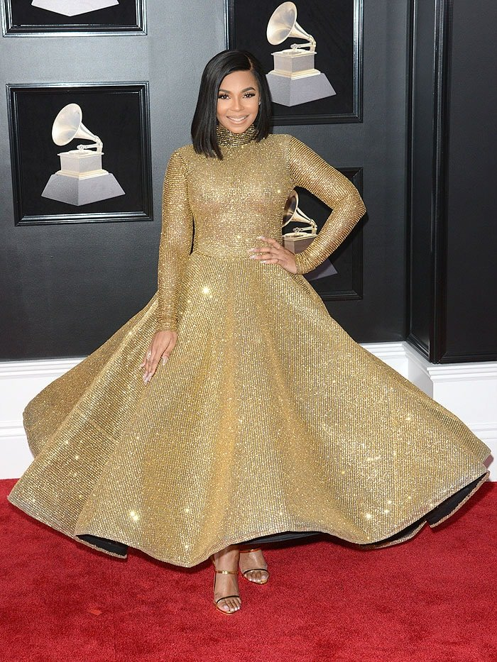 Ashanti at the 2018 Grammy Awards held at Madison Square Garden in New York City on January 28, 2018.
