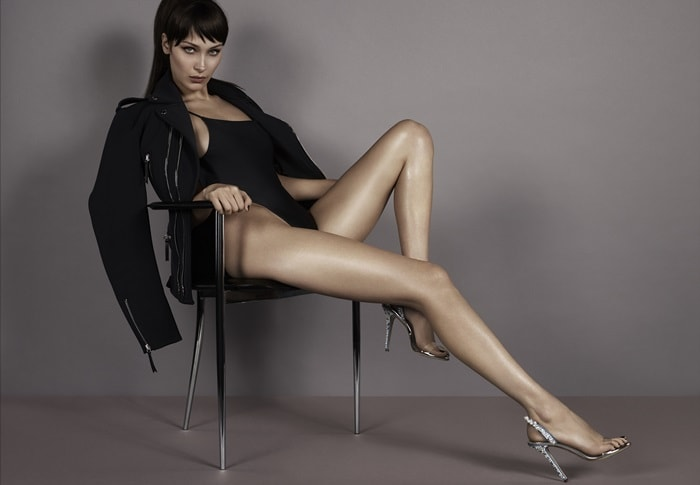Styled by the former editor-in-chief of Vogue Paris, Carine Roitfeld, with art direction by Giovanni Bianco, the provocative pictures feature Bella Hadid wearing a simple black bodysuit
