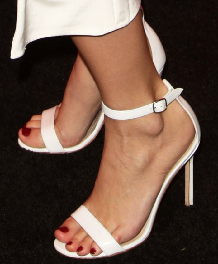 """The Manolo Blahnik """"Chaos"""" sandal is elegant with its simple lines"""