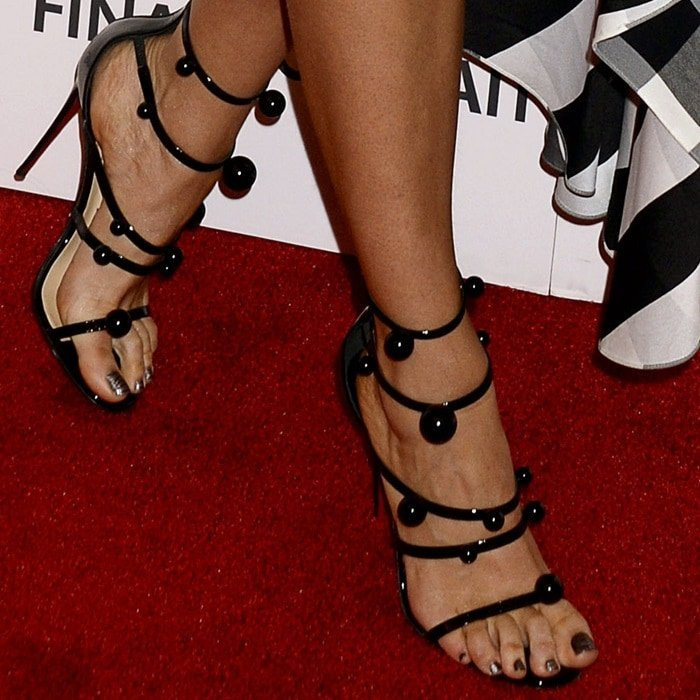 Blake Lively's feet in 'Atonana' ball-stud sandals