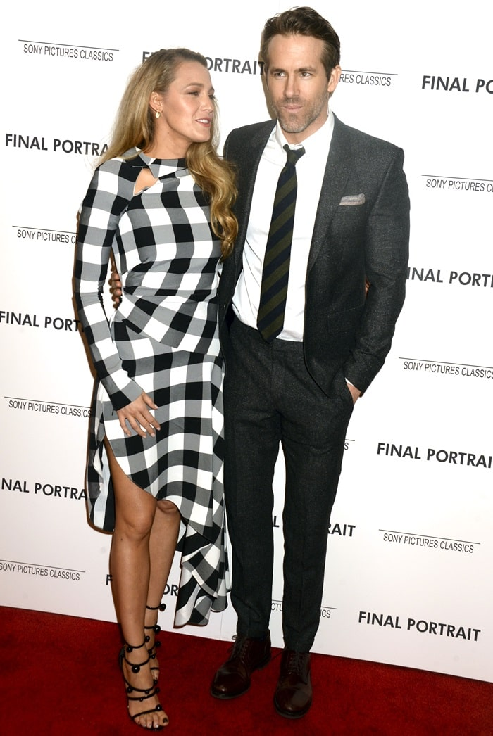Blake Lively and Ryan Reynolds at the New York screening of the film 'Final Portrait'