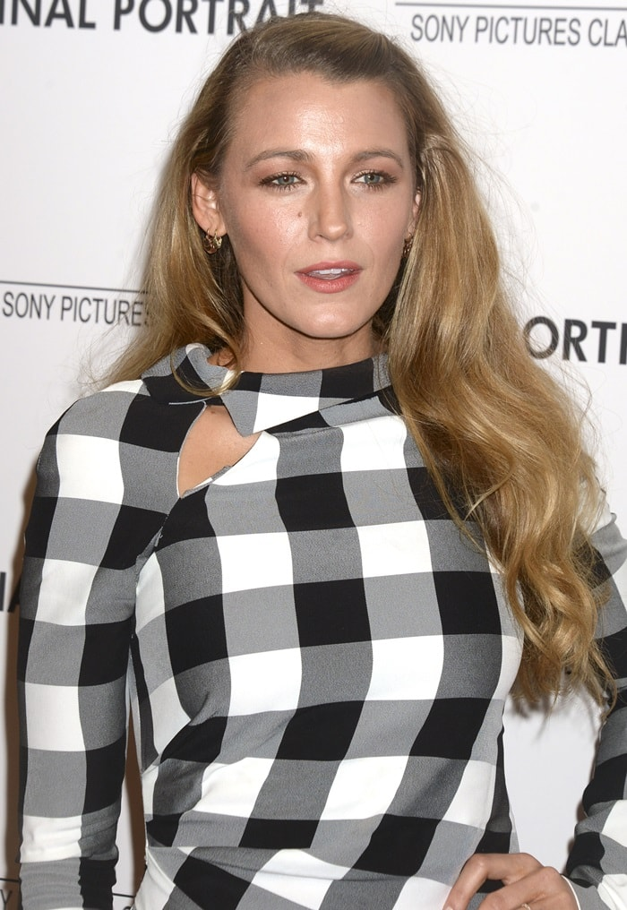 Blake Lively's checkered Monse Pre-Fall 2018 dress