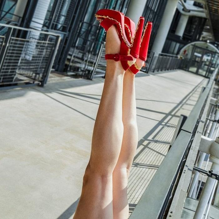 Ruffled Christian Louboutin 'Latinotte' Sandals