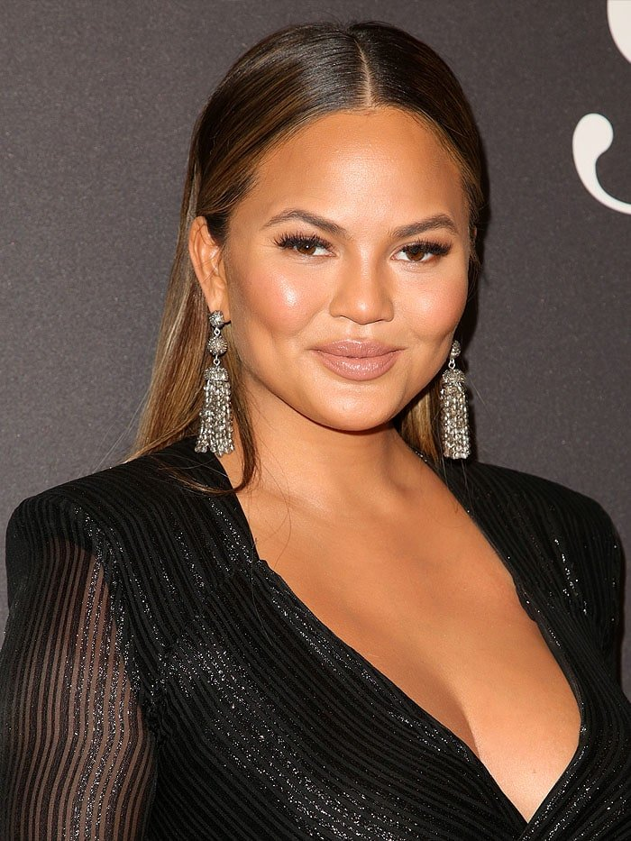 Chrissy Teigen arriving at theLip Sync Battle LIVE: A Michael Jackson Celebration event in Hollywood, California, on January 18, 2018.