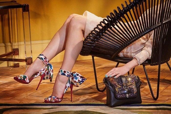 Christian Louboutin's scarf-inspired'Tres Frais' sandals
