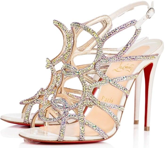 Crystal-Encrusted 'Circonvolu Strass' 100 mm Sandals