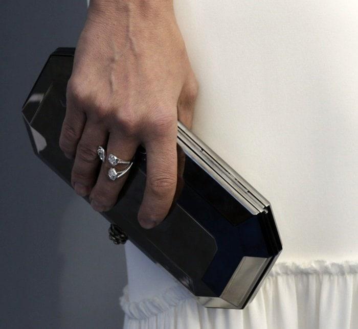 Diane Kruger toting a Tyler Ellis clutch