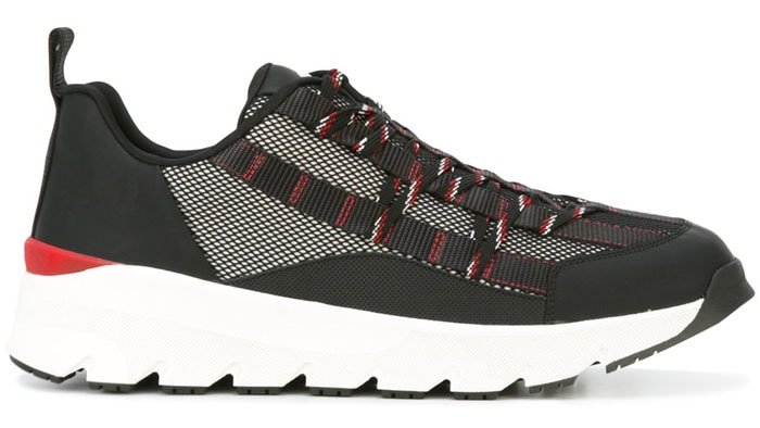 Dior Homme Block Panel Lace-Up Sneakers