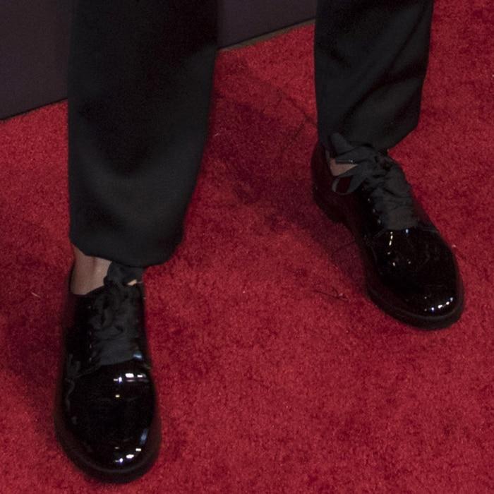 Emma Watson wearing Susi Studio 'Emerson' patent loafers