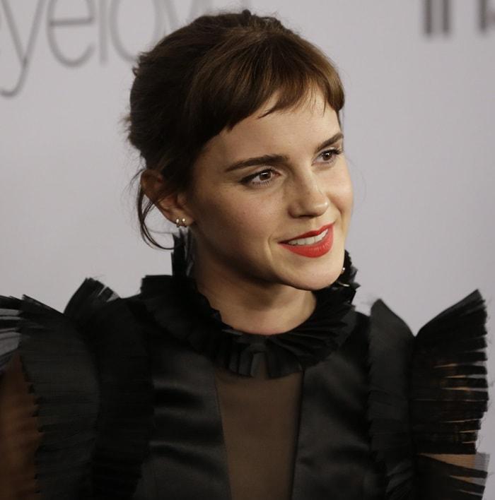 Emma Watson wearing a custom Ronald van der Kemp gown