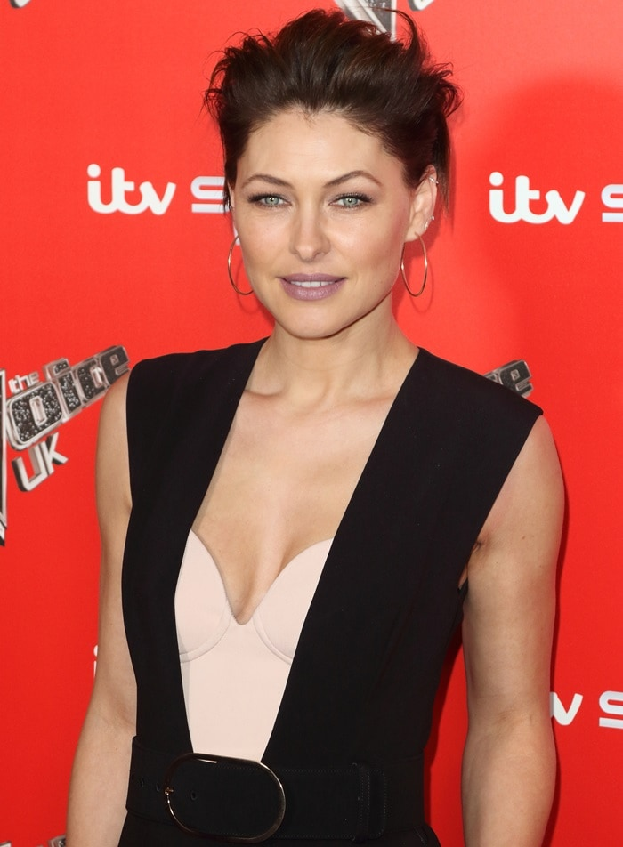 Emma Willis attends The Voice UK Launch photo call held at Ham Yard Hotel in London, England, on January 3, 2018