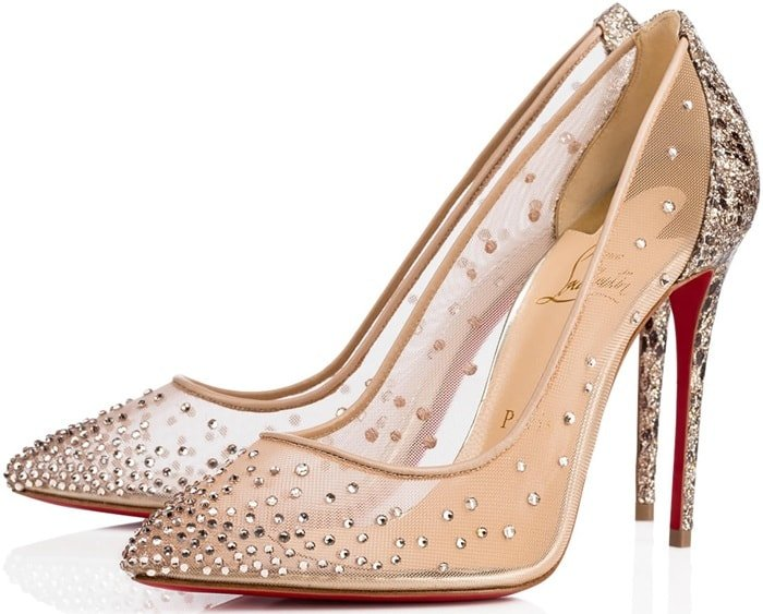 Glittered Roccia Python Print 'Follies Strass' 100 mm Bridal Shoes