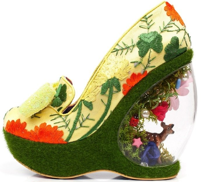 Irregular Choice invites you to play in their quirky, clever, 'Garden Party' wedge