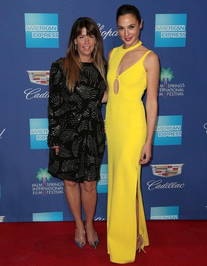 Gal Gadot posing with 'Wonder Woman' director Patty Jenkins