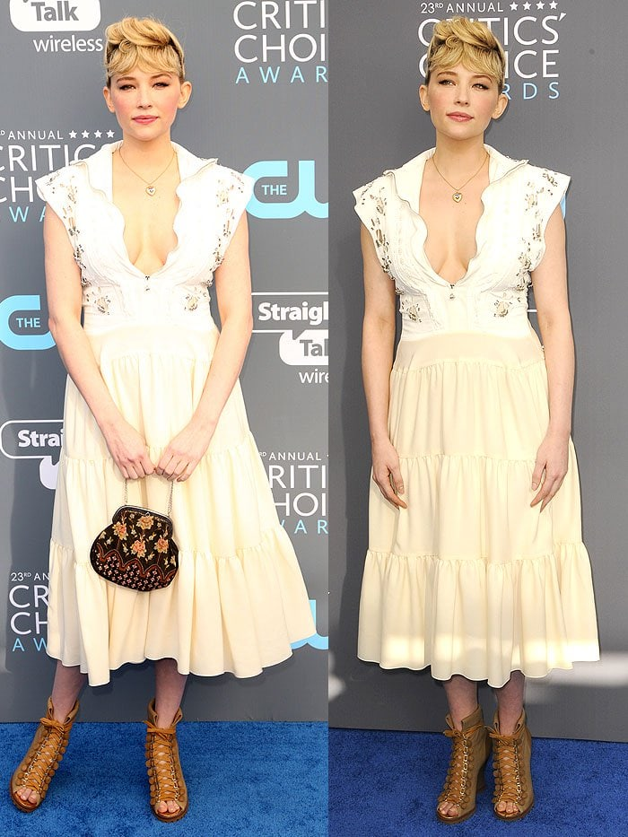 Haley Bennett actress channeled a head-scratching punk-girl-on-the-prairie vibe in a Chloe Spring 2018 dress