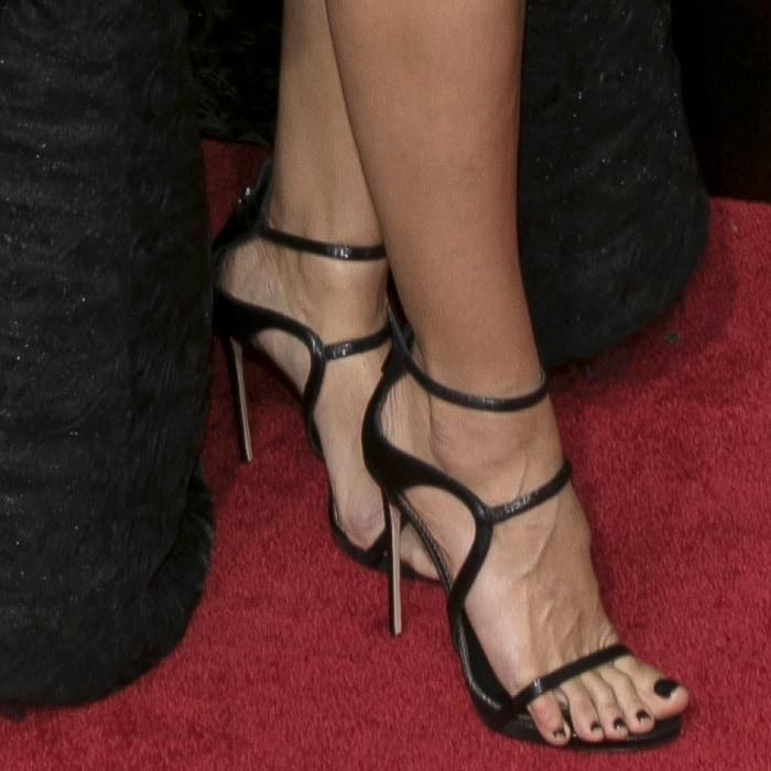 Heidi Klum wearing Le Silla sandals