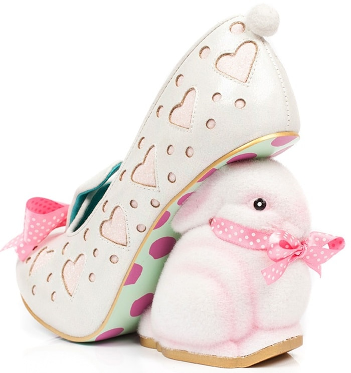 193183d8c1 Easter Shoes  Bunny Ornamented Fluffy Love Irregular Choice Sandals