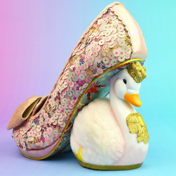 Irregular Choice 'Savan' Swan Heels in Pink
