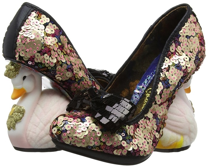 Irregular Choice 'Savan' Swan Heels in Black