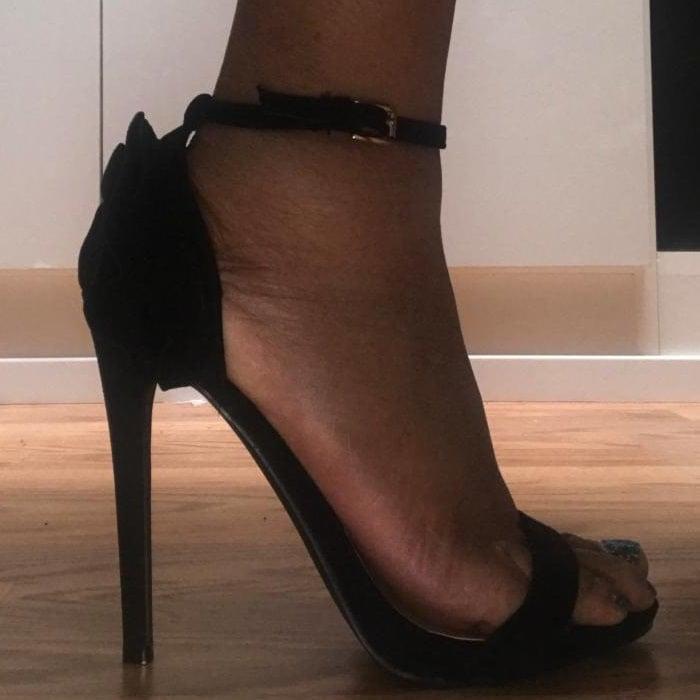 'Jadira' Heeled Two-Strap Sandals