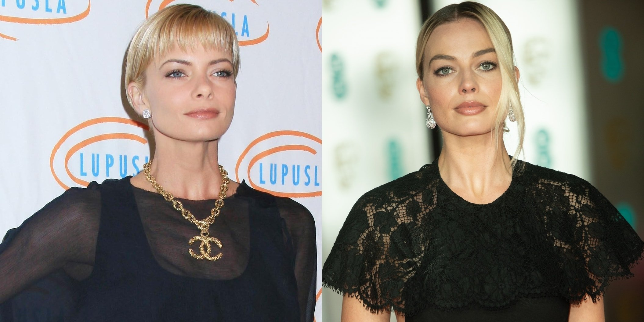 Fans are having a hard time telling Jaime Pressly (L) and Margot Robbie (R) apart
