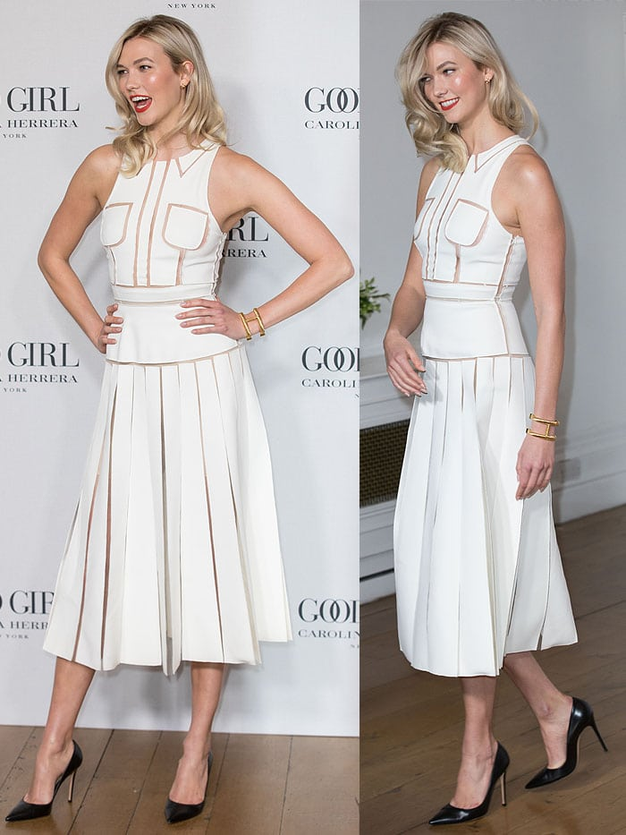 Karlie Kloss attending the launch party of the new Carolina Herrera fragrance