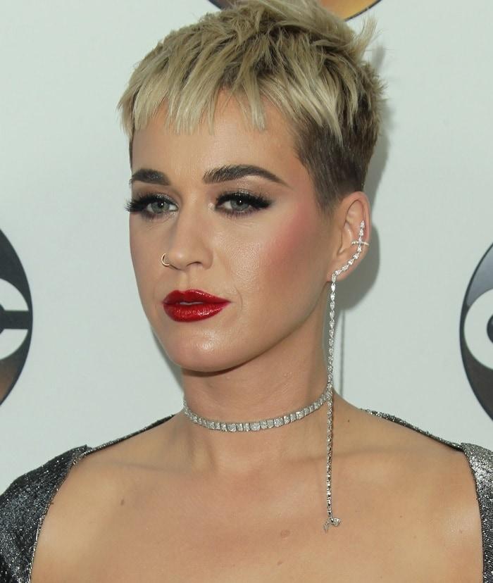 Katy Perry accessorized with APM Monaco earrings