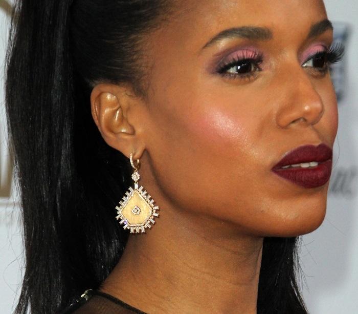 Kerry Washington'sgold slice earrings from Graziela Gems