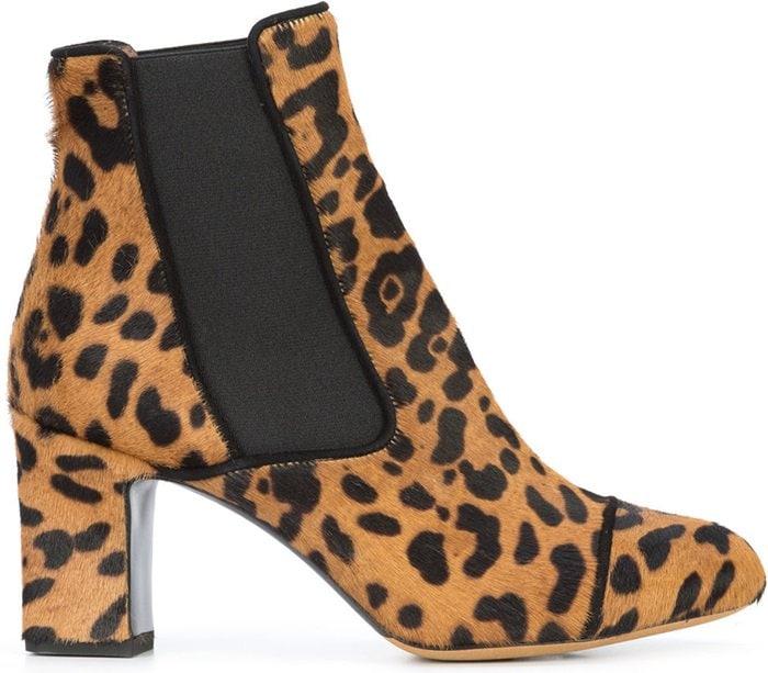 Leopard print 'Kiki' boots