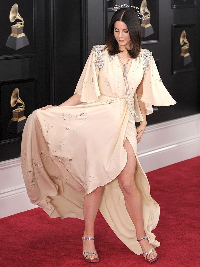 Lana Del Reyat the 2018 Grammy Awards held at Madison Square Garden in New York City on January 28, 2018.