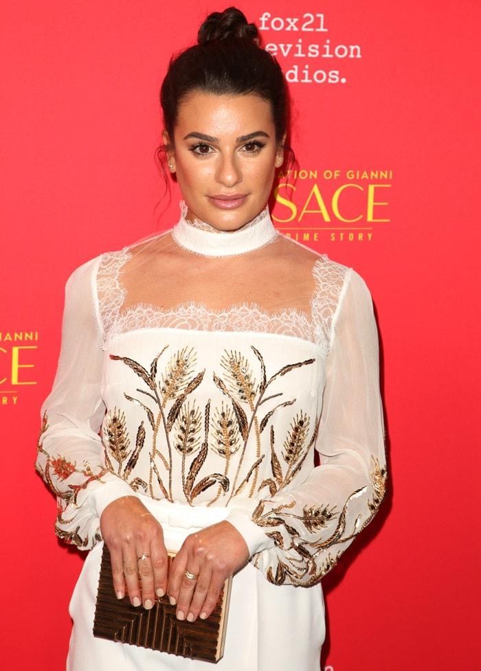 Lea Michele totinga Lee Savage 'Cross Stack' clutch