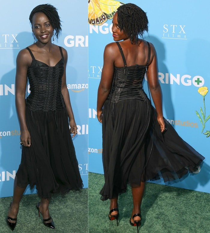 Lupita Nyong'o in Dolce & Gabbana at the 'Gringo' premiere