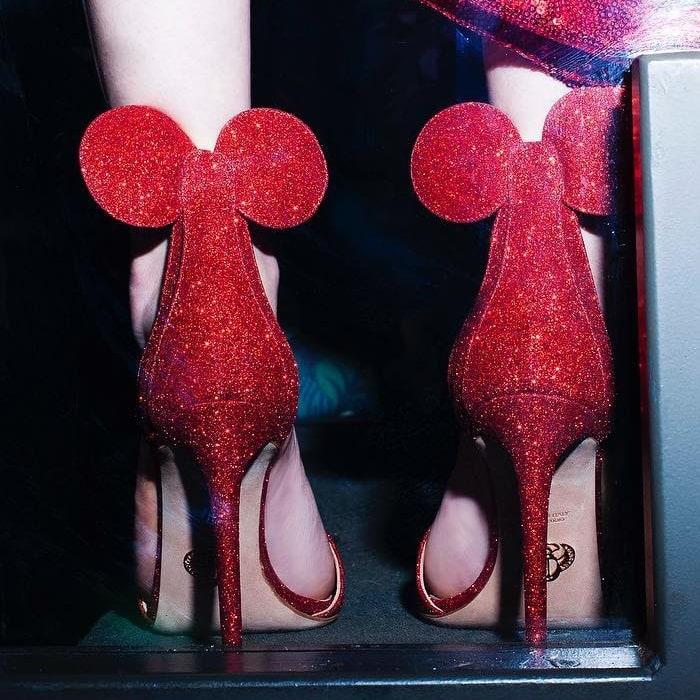 Oscar Tiye's Minnie Mouse ear shoes for Disney