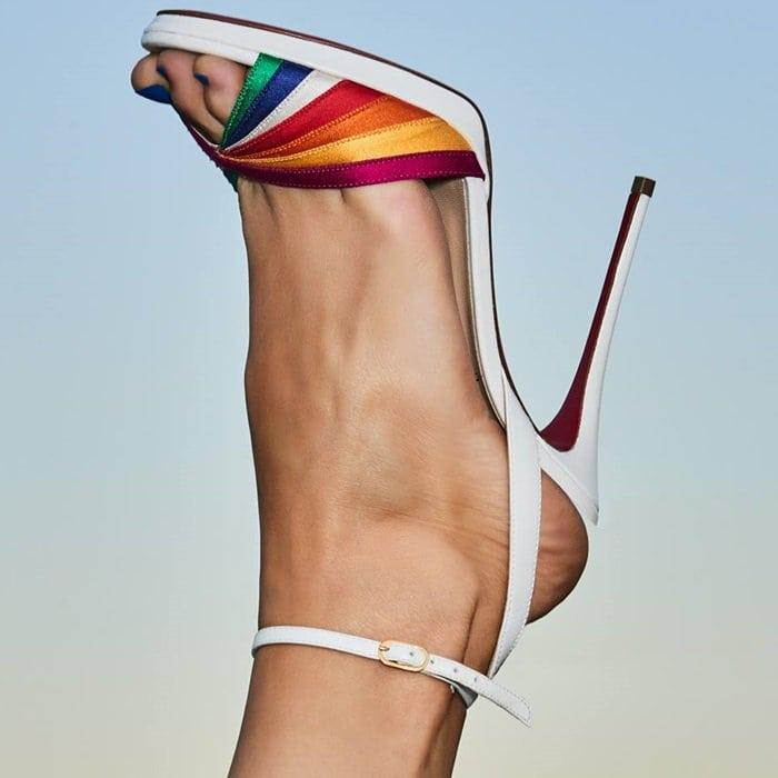 Naseeba Ankle-Strap Rainbow Pumps