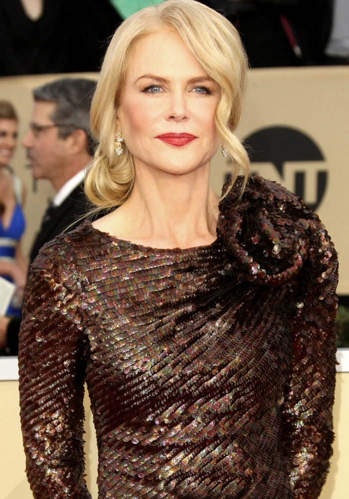 Nicole Kidman at the 2018 Screen Actors Guild (SAG) Awards held at the Shrine Auditorium in Los Angeles on January 21, 2018