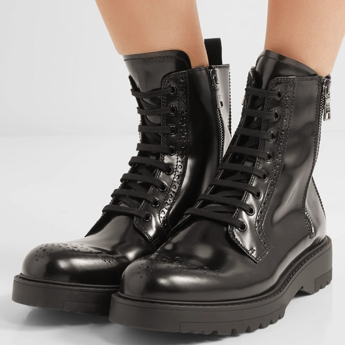 Prada Leather ankle boot