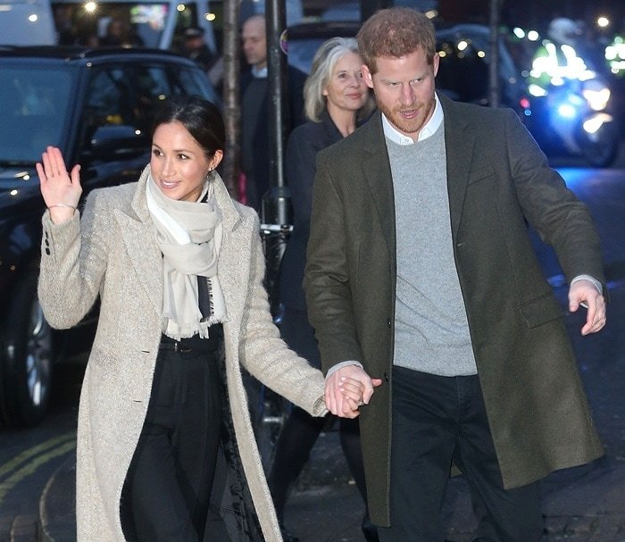 Prince Harry and Meghan Markle visit Reprezent 107.3FM in Brixton, to see their work supporting young people through creative training in radio and broadcasting, and to learn more about their model of using music, radio and media for social impact, on January 9, 2018