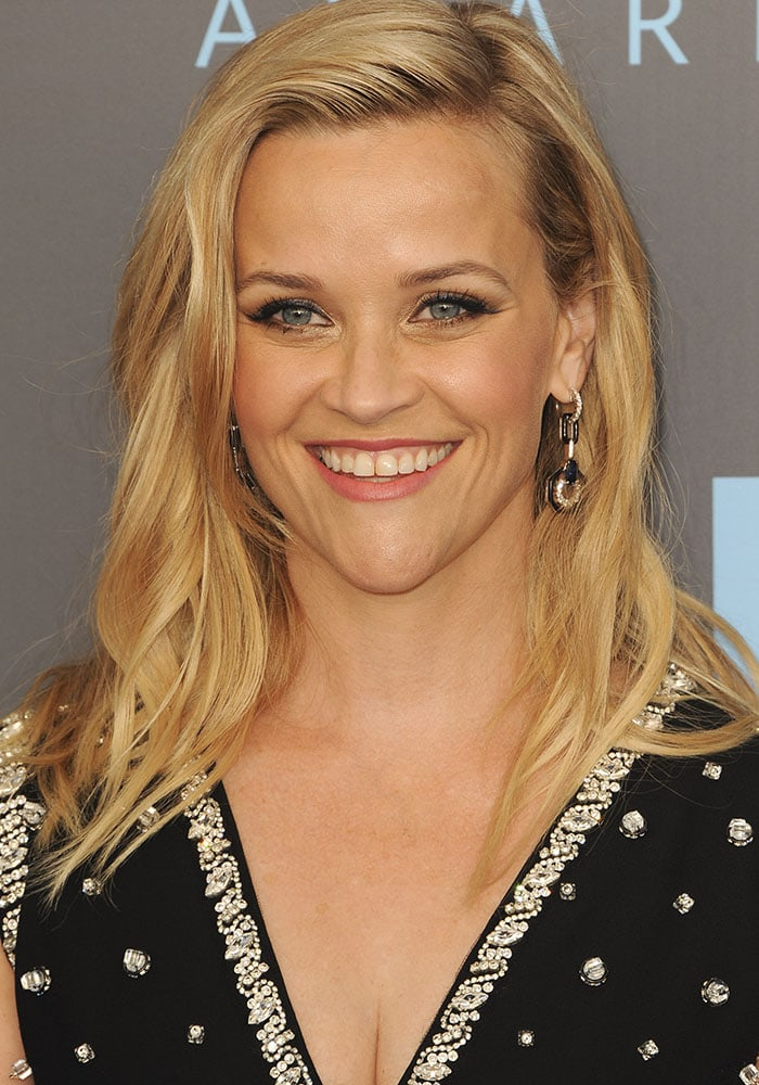 Reese Witherspoon at the 23th annual Critics' Choice Awards held at the Barker Hangar in Los Angeles