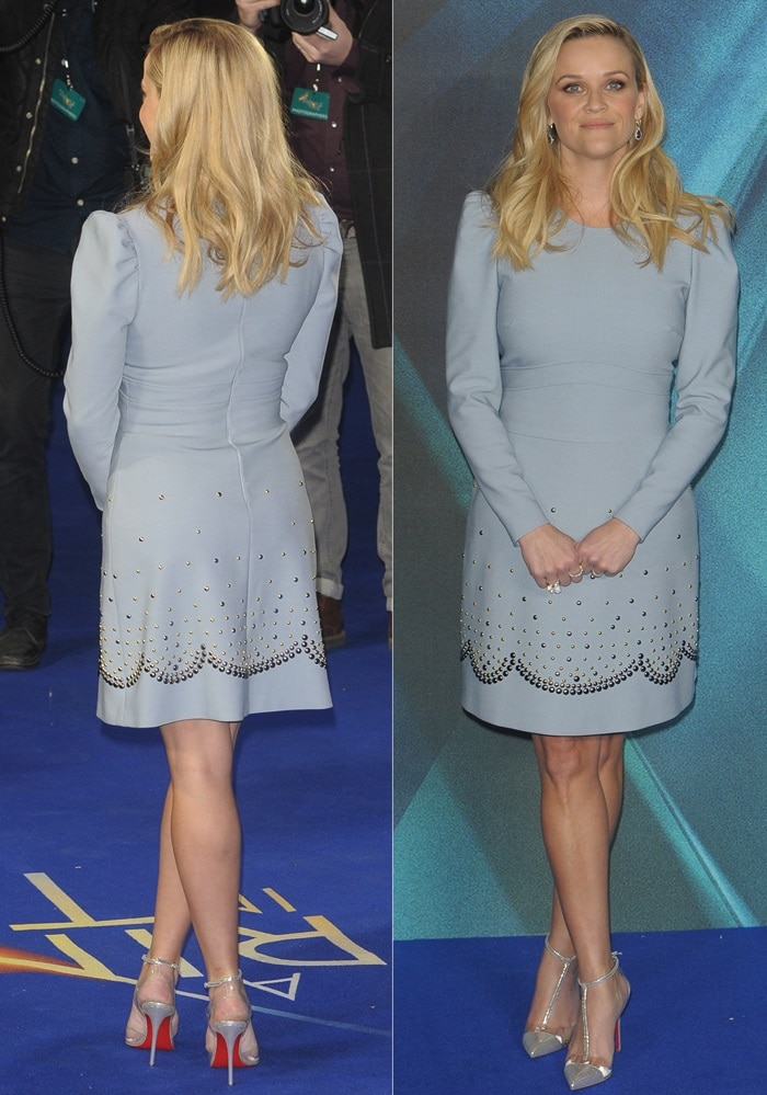 Reese Witherspoonwith her blonde locks slightly tousled at the European Premiere of her movie 'A Wrinkle In Time'