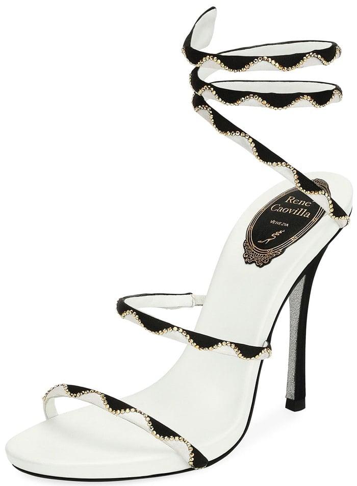 Rene Caovilla Embellished Snake-Coil 105mm Sandal