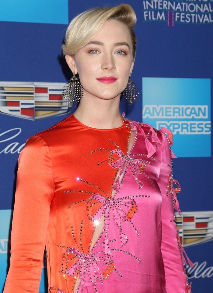Saoirse Ronan wearing Fernando Jorge earrings
