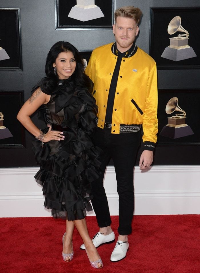 Scott Hoying and Kirstin Maldonado at the 2018 Grammy Awards held at Madison Square Garden in New York City on January 28, 2018