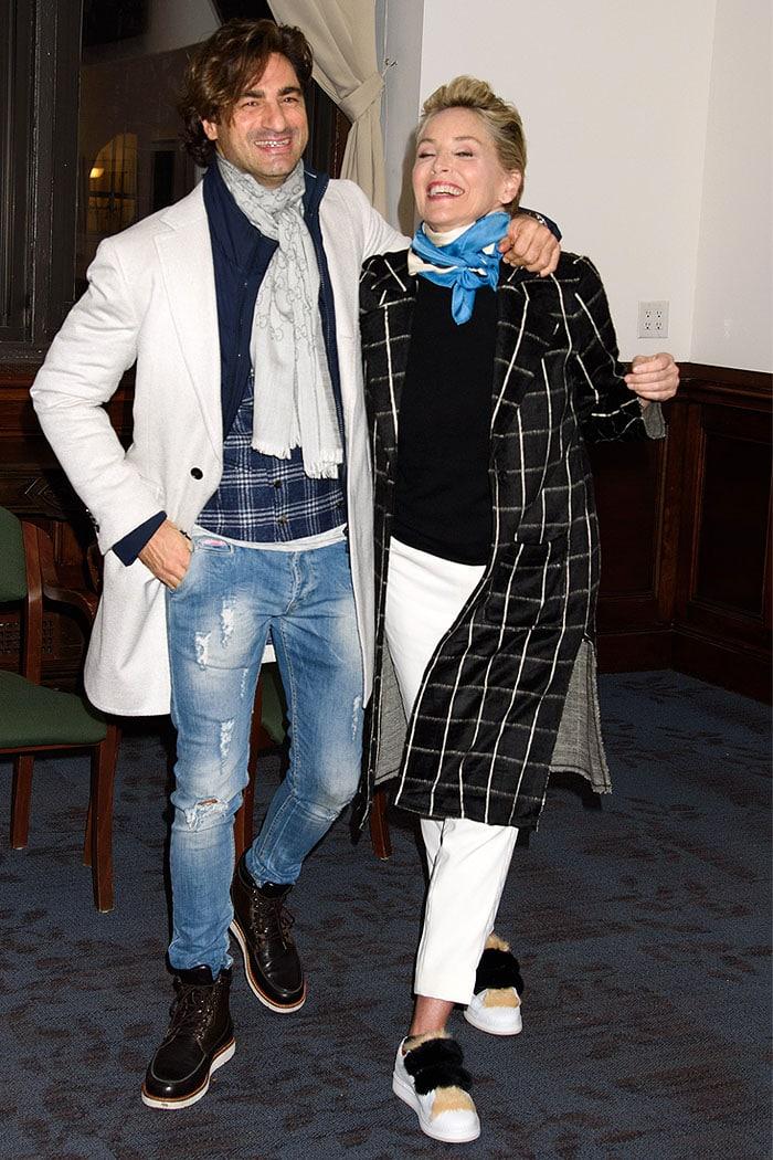 Sharon Stonecozying up to her Italian entrepreneur beau Angelo Boffa