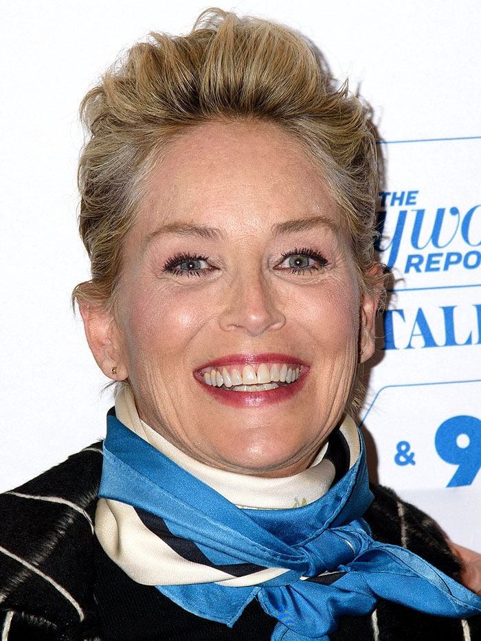Sharon Stone S Fur Obsession In Zara Sneakers And