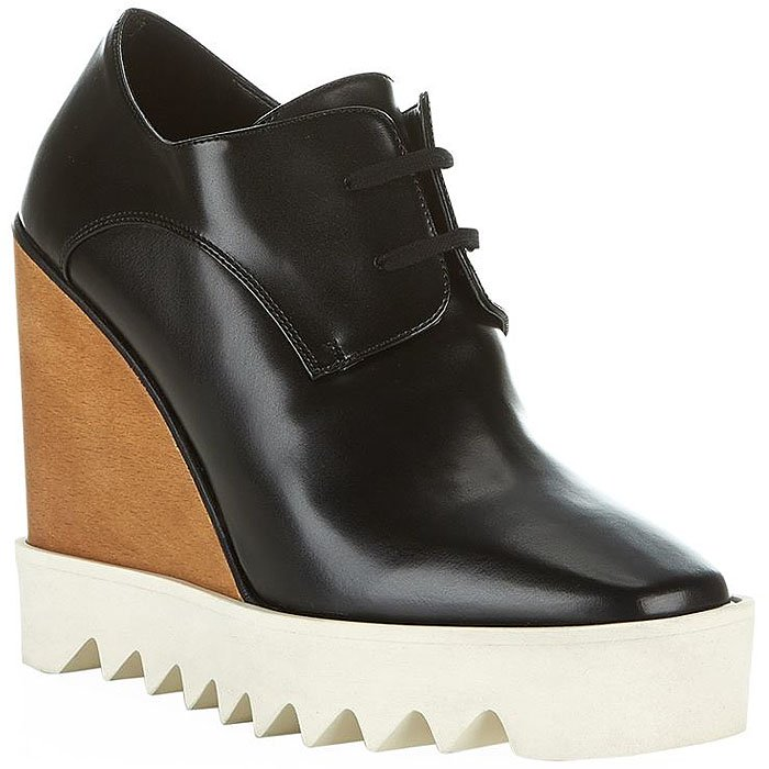 "Stella McCartney ""Elyse"" leather wedge platform oxfords"
